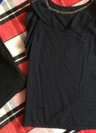 Блуза с рюшами и вышивкой united colors of benetton