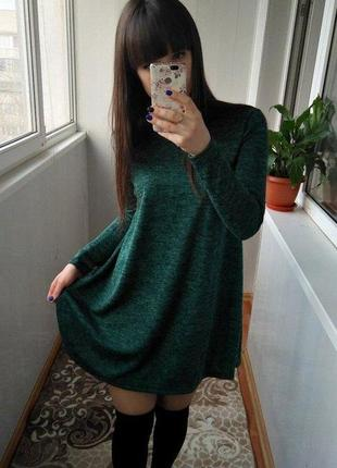 Ангоровое теплое платье свободного кроя! очень милое и красивое .