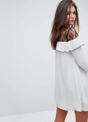 Платтячко в горошок з кружевом fashion union