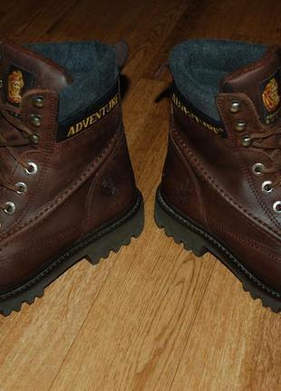 Кожаные утеплённые ботинки 42,5-43 р adventure отличное состояние