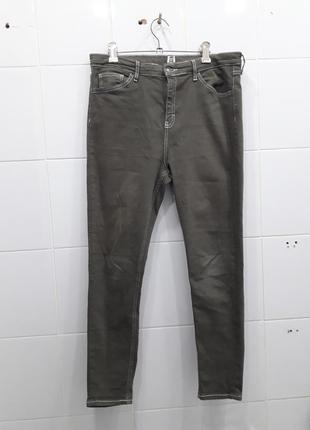Плотные джинсы высокая посадка