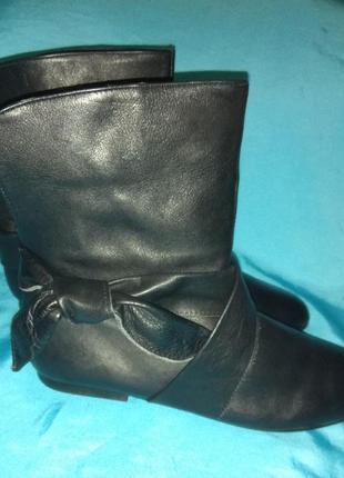 Стильные кожаные деми ботинки topshop р 37 испания