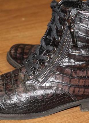 Стильные ботинки gabor comfort принт питон. кожа, утеплены. португалия 42-43