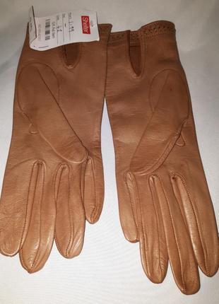 Кожаные перчатки на узкую руку