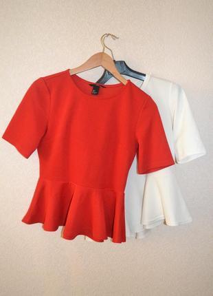 Блуза с баской\воланом внизу h&m (два цвета в наличии!)