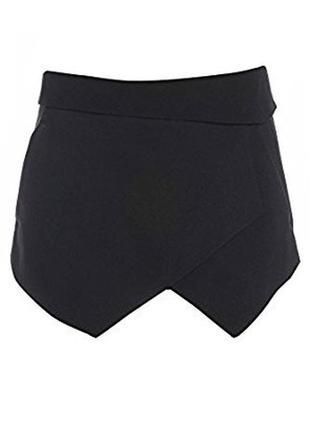 Актуальные черние шорты юбка бестселлер от zara