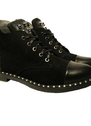 Женские демисезонные ботинки кожа замш 36, 37, 38, 39, 40, 41 размер