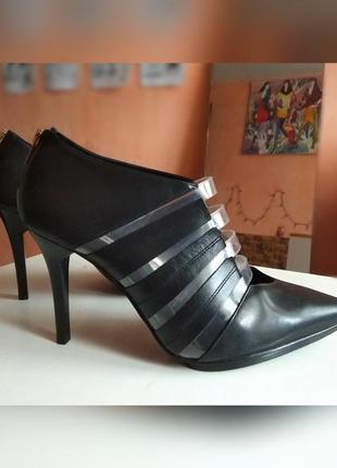 Суперстильні брендові чорні шкіряні туфлі & other stories, туфли, розм. 40