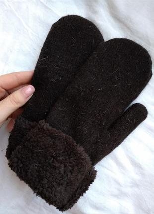 Самые теплые варежки на меху, перчатки, рукавицы, рукавиці