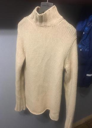 Крутой удлинённый свитер шерсть ltb
