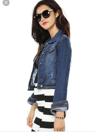 Джинсовая куртка джинсовка очень крутая размер 18