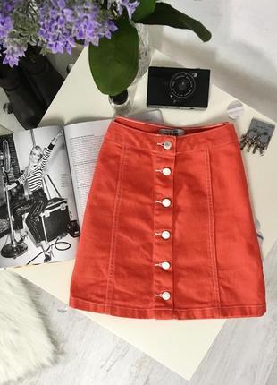 Спідничка під джинс на ґудзиках від new look♥️♥️♥️