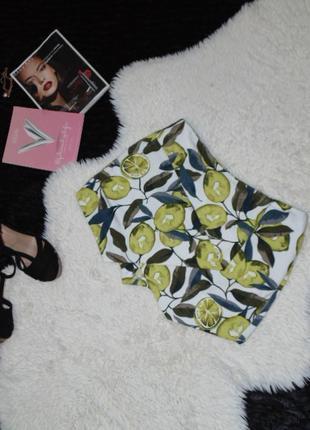 Юбка -шорты с лимоном topshop2