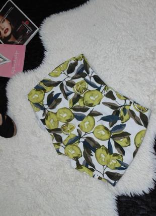 Юбка -шорты с лимоном topshop5