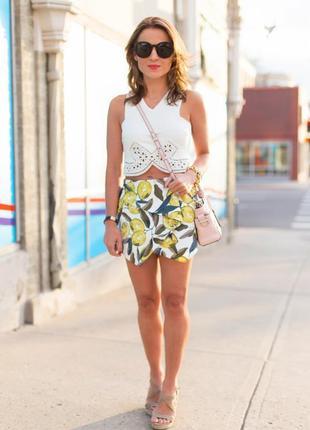 Юбка -шорты с лимоном topshop
