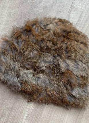 Шапка кролик натуральный мех