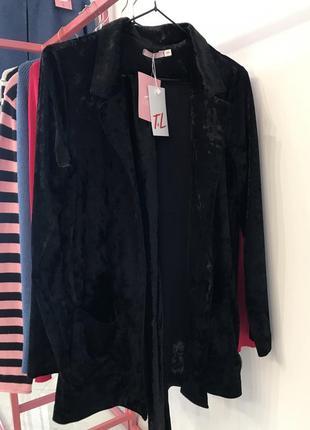 Велюровий піджак з поясом, розміри s, m