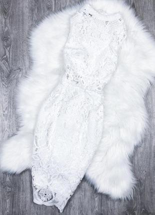 Розкішна мереживна сукня міді quiz