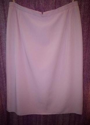 Розовая юбка миди