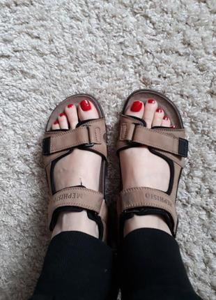 Кожаные сандалии босоножки mephisto 40 размер
