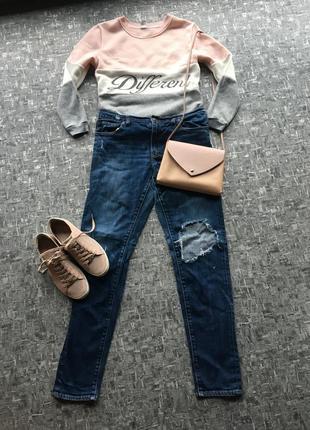 Крутые джинсы бойфренды от американского молодёжного бренда abercrombie &fitch - оригинал!