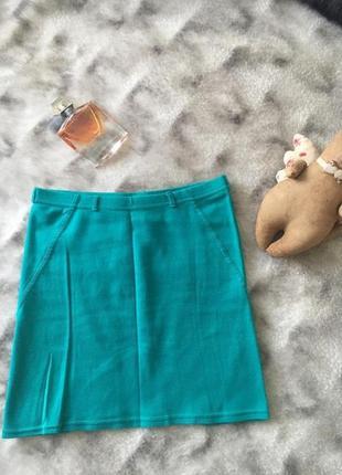 Бирюзовая мини юбка bershka