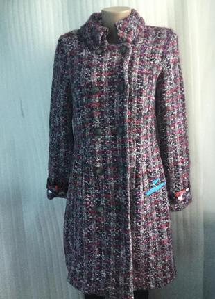Пальто шерсть с мохером букле marc cain , кардиган 38-401