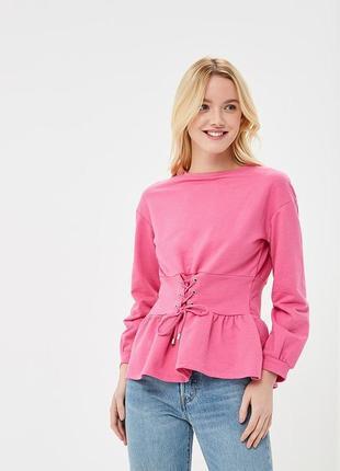 Джемпер толстовка свитшот розовый befree