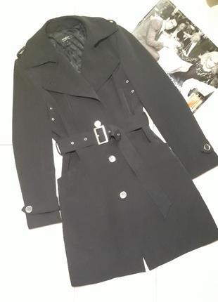 Пальто плащ тренч черный