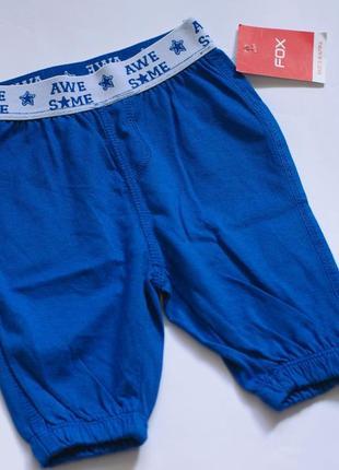 Шорты  штанишки для мальчика 0-3 мес от fox