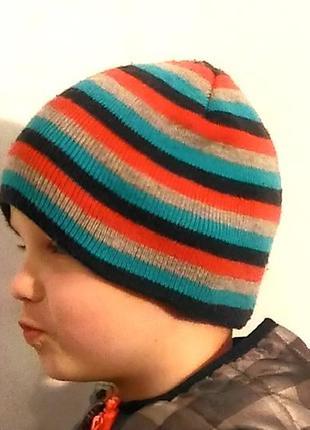 2258\0 детская шапка в полоску