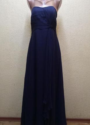 Платье в пол без бретелек