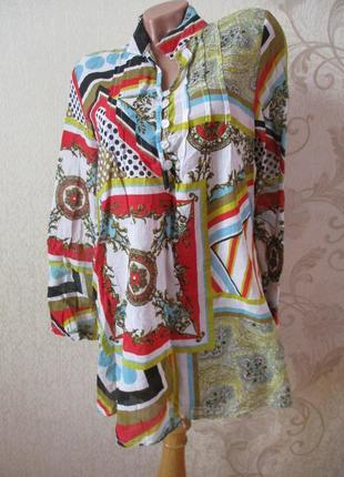 Рубашка/туника хлопковая в принт/95% хлопок