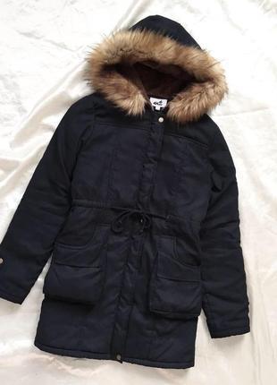 Куртка парка зима с мехом