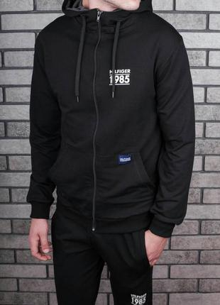 Черные мужские спортивные костюмы 2019 - купить недорого мужские ... f788263632e