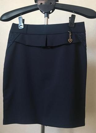Красивая классическая юбка легенькая весна-лето-осень