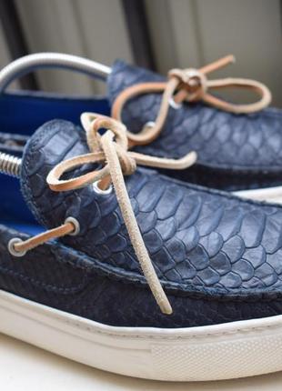 Кожаные туфли мокасины топсайдеры италия р.42 27,5 см stokton