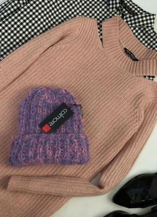 Новая трендовая объемная шапка крупной вязки colmare