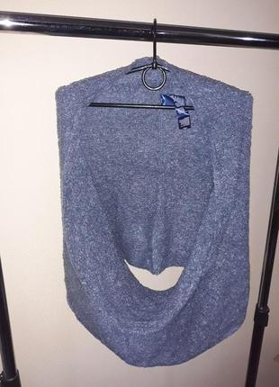 Тёплый шарф - снуд 20 % шерсть от тсм tchibo (чибо), германия  размер - универсальный