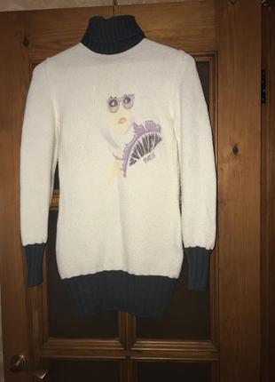 Тёплая туника-свитер
