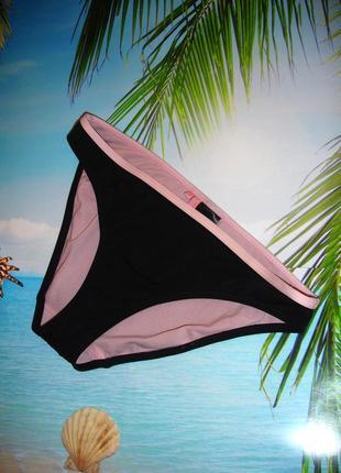 Низ от купальника раздельного трусики женские плавки размер 46 / 12 черные