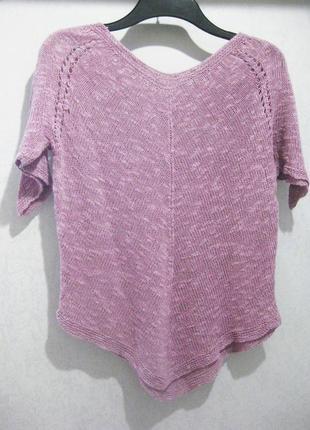 Джемпер кофта сиреневый баклажанный цвет с коротким рукавом