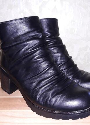 Зимние женские кожаный ботинки