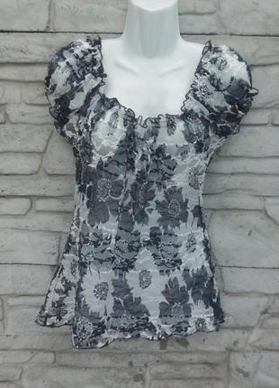 Распродажа!!! красивая, кружевная блуза в принт
