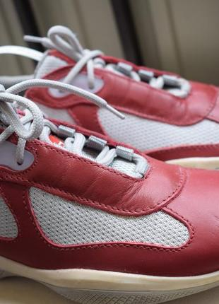 Кожаные туфли мокасины кеды прада prada италия р.37 24,5 см р.3