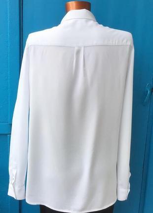Фирменная белая рубашка мужского прямого кроя от tommy hilfiger