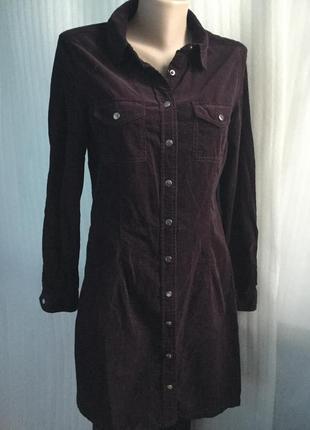 Платье с тончайшего вельвета на кнопках 38-40