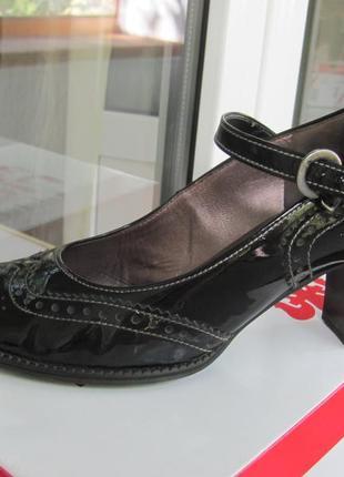 Туфли натуральный лак gabor 37р.