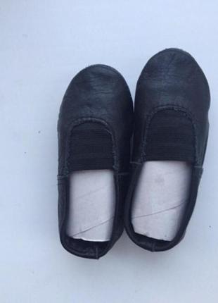 Детские кожаные чёрные чешки р.171