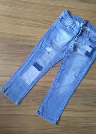 Джинсовые брюки#бриджи bershka